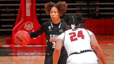 Austin Peay State University Women's Basketball senior Brianah Ferby had 21 points Saturday in loss to Southeast Missouri at the Dunn Center. (APSU Sports Information)