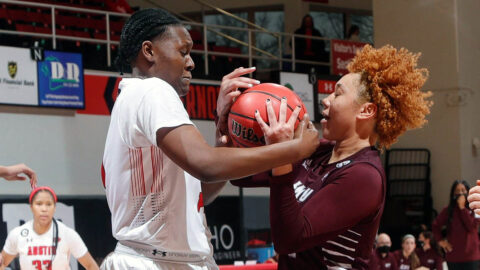 Austin Peay State University Women's Basketball defense holds Eastern Kentucky to 49 points in win Monday. (APSU Sports Information)