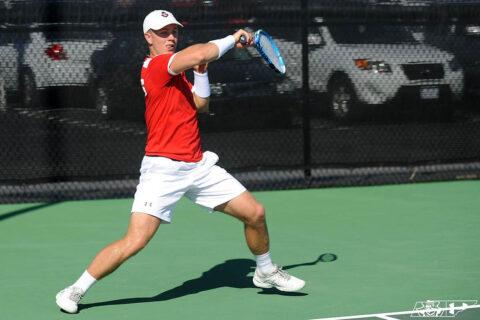 Austin Peay State University Men's Tennis falls to Carson-Newman. (APSU Sports Information)