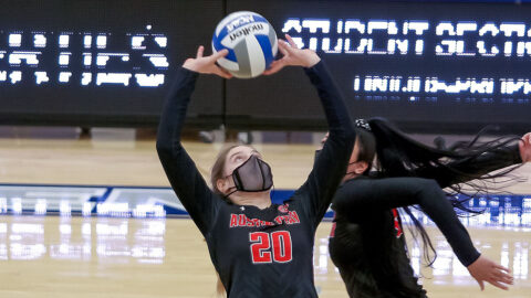 Austin Peay State University Volleyball gets four set victory over Eastern Illinois at Lantz Arena, Sunday. (APSU Sports Information)