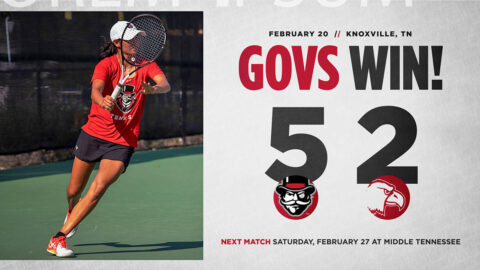 Austin Peay State University Women's Tennis goes 2-0 with win over Carson-Newman, Saturday. (APSU Sports Information)