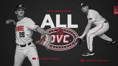 Austin Peay State University Baseball's John McDonald and Garrett Space named to OVC Preseason Team. (APSU Sports Information)