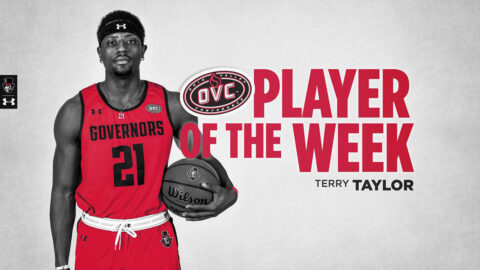 Austin Peay State University Men's Basketball senior Terry Taylor was named OVC Player of the Week for the 17th time in his career. (APSU Sports Information)
