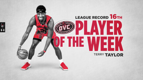 Austin Peay State University Basketball's Terry Taylor breaks OVC record with 16th Player of the Week award. (APSU Sports Information)