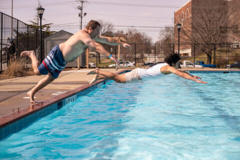 Austin Peay State University's annual Polar Plunge to benefit Special Olympics athletes. (APSU)