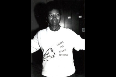 A photo from the 1990s showcasing Austin Peay State University student activism. (APSU)