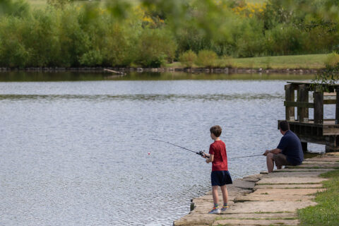 Fishing at Liberty Park. (Visit Clarksville)