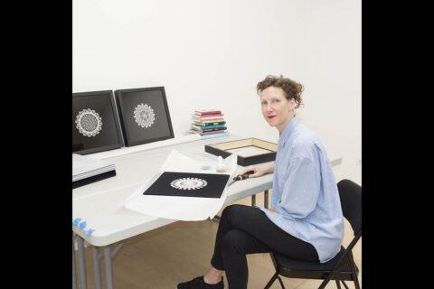 Laura Splan in studio.