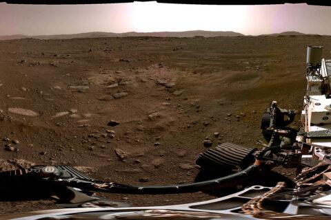 NASA's Mars Perseverance Rover provides image from Mars. (NASA)