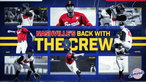 Nashville Sounds and Milwaukee Brewerss Reunite After 10-Year Partnership from 2005-2014. (Nashville Sounds)