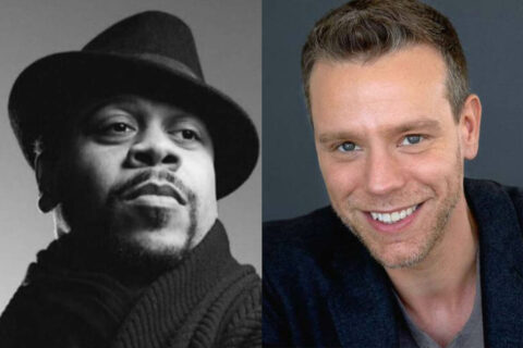 (L to R) Wardell Julius Clark and Adam Pascal.