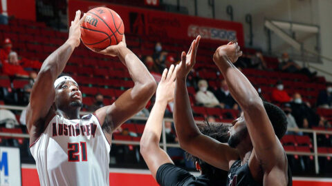 Austin Peay State University Men's Basketball faces Eastern Kentucky in OVC Tournament play, Thursday. (Robert Smith, APSU Sports Information)