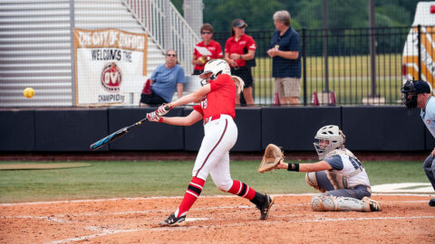 Austin Peay State University Softball sophomore Lexi Osowski had two singles, a double and a home run against Murray State, Wednesday. (APSU Sports Information)