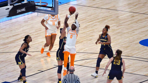 Tennessee Women's Basketball junior Rennia Davis scored 12 points Tuesday in loss to Michigan in the second round of the NCAA Tournament. (UT Athletics)