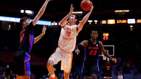 Tennessee Men's Basketball junior John Fulkerson had 14 points and 7 rebounds in Volunteers victory over Florida. (UT Athletics)