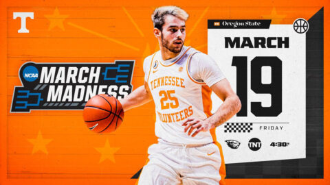 Tennessee Men's Basketball will take on Oregon State in first round action of the NCAA Tournament, Friday. (UT Athletics)