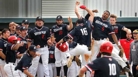 Austin Peay State University Baseball wins three-game series against Belmont with 11-8 victory, Saturday. (Robert Smith, APSU Sports Information)