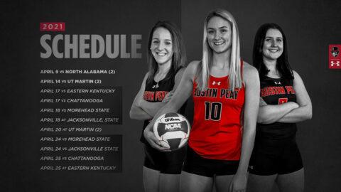 2021 Austin Peay State University Beach Volleyball Schedule. (APSU Sports Information)