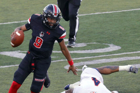 Austin Peay State University Football quarterback Draylon Ellis threw for 305 yards and four touchdowns in loss to UT Martin, Sunday. (APSU Sports Information)