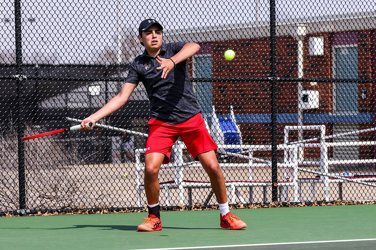 Austin Peay State University Men's Tennis drops 5-2 match to Saint Louis in Evansville, Saturday. (APSU Sports Information)