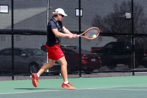 Austin Pay State University Men's Tennis falls to Belmont in straight sets. (APSU Sports Information)