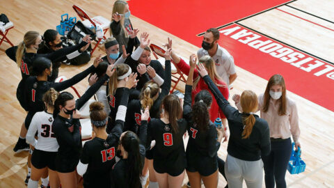 Austin Peay State University Volleyball ends season beating UT Martin in the first match then losing in the nightcap. (APSU Sports Information)