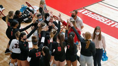 Austin Peay State University Volleyball earns OVC Sportsmanship Award. (APSU Sports Information)