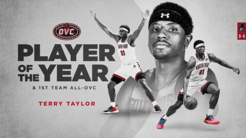 Austin Peay State University Basketball senior Terry Taylor named OVC Player of the Year. (APSU Sports Information)