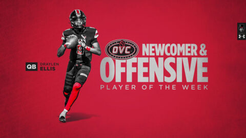 Austin Peay State University Football quarterback Draylen Ellis named OVC Offensive Player of the Week, OVC Newcomer of the Week. (APSU Sports Information)