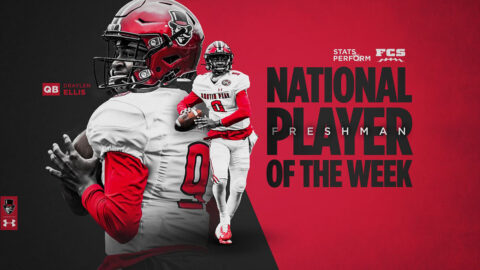 Austin Peay State University Football quarterback Draylen Ellis named STATS FCS National Freshman of the Week. (APSU Sports Information)