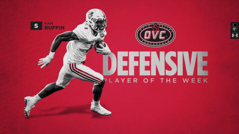 Austin Peay State University Football's Kam Ruffin earns OVC Defensive Player of the Week award. (APSU Sports Information)