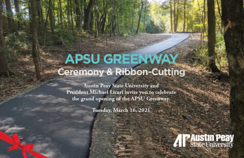 Austin Peay State University to host APSU Greenway Trail Ceremony and Ribbon Cutting on March 16th. (APSU)