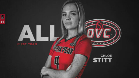 Austin Peay State University Volleyball senior Chloe Stitt gets First Team All-OVC recognition. (APSU Sports Information)