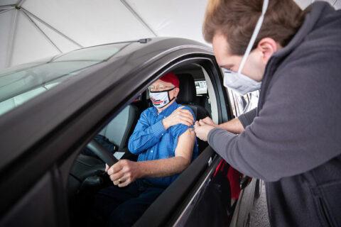 Austin Peay State University administering COVID-19 Vaccine. (APSU)