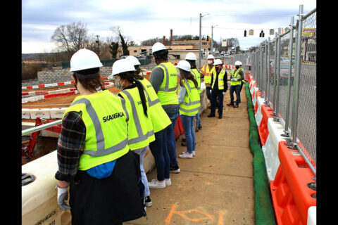 Austin Peay State University geology students tour the MPEC site near campus. (Philip Roberson)