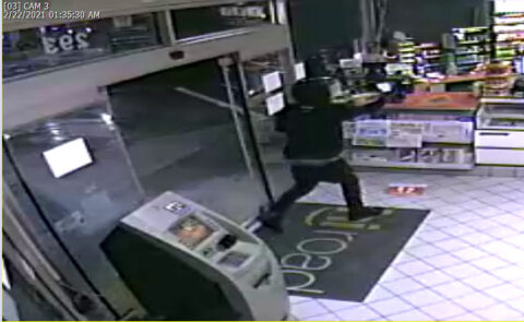 ATF and the Clarksville Police Department are seeking information on the attempted robbery suspect in this photo.