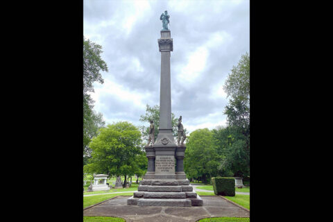 Confederate Memorial in Greenwood Cemetery in Clarksville, Tennessee.
