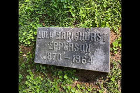 Lulu Bringhurst Epperson's grave is in Greenwood Cemetery (Section 9) in Clarksville, Tennessee