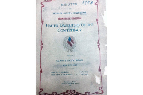Minutes of the UDC Convention held in Clarksville, Tennessee in 1903