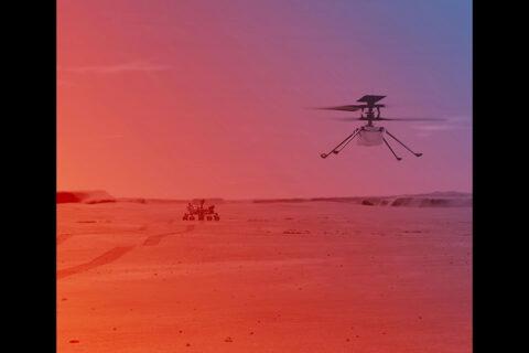 NASA's Ingenuity Helicopter on Mars (Illustration). (NASA/JPL-Caltech)