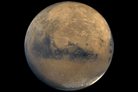 This global view of Mars is composed of about 100 Viking Orbiter images. (NASA/JPL-Caltech/USGS)