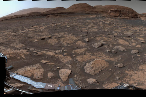 NASA's Curiosity Mars rover used its Mastcam instrument to take the 126 individual images that make up this 360-degree panorama on March 3, 2021, the 3,048th Martian day, or sol, of the mission. (NASA/JPL-Caltech/MSSS)