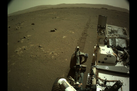 NASA's Mars Perseverance rover acquired this image using its onboard Left Navigation Camera (Navcam). (NASA/JPL-Caltech)