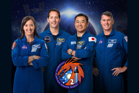 NASA, SpaceX to send astronauts (L to R) Megan McArthur, Thomas Pesquet, Akihiko Hoshide and Shane Kimbrough to the International Space Station aboard a Crew Dragon Spacecraft. (NASA)