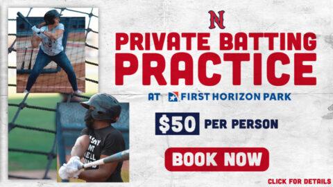 Nashville Sounds Private Batting Practice. (Nashville Sounds)