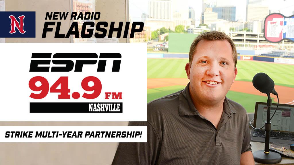 Nashville Sounds partner with ESPN 94.9 as team's Flagship Station