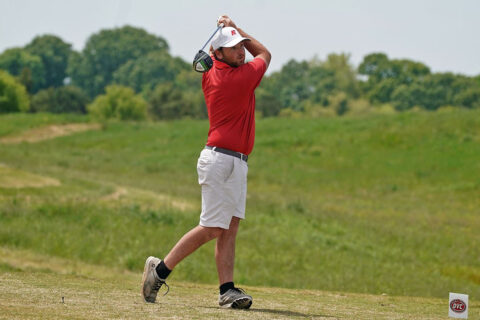 Austin Peay State University Men's Golf senior Austin Lancaster goes low for the Govs at the OVC Championships. (APSU Sports Information)