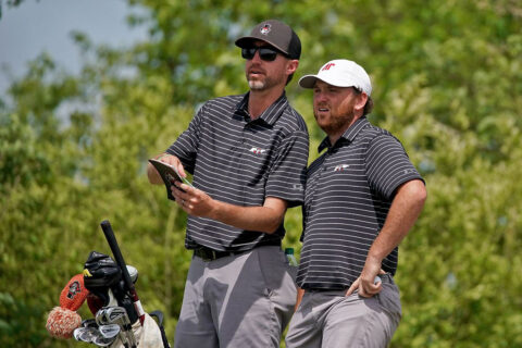 Austin Peay State University men's golf senior Austin Lancaster finished strong at OVC Championships. (APSU Sports Information)