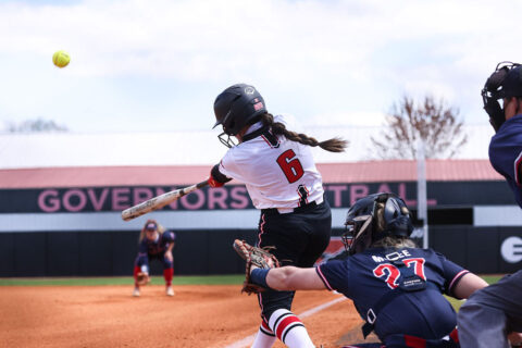 Austin Peay Stae University Softball junior Bailey Shorter was 3 for 5 at the plate, scored 2 runs and had 4 RBIs. (APSU Sports Information)