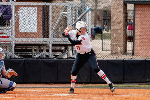 Austin Peay State University Softball's Kelsey Gross had four RBIs in Game 2 against Murray State. (APSU Sports Information)